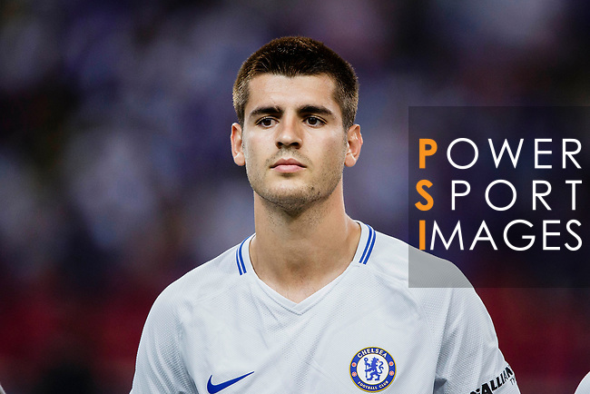 Chelsea Forward Alvaro Morata during the International Champions Cup 2017 match between FC Internazionale and Chelsea FC on July 29, 2017 in Singapore. Photo by Marcio Rodrigo Machado / Power Sport Images