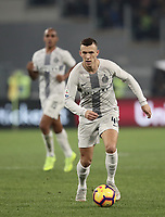 Football, Serie A: AS Roma - InterMilan, Olympic stadium, Rome, December 02, 2018. <br /> Inter's Ivan Perisic in action during the Italian Serie A football match between Roma and Inter at Rome's Olympic stadium, on December 02, 2018.<br /> UPDATE IMAGES PRESS/Isabella Bonotto