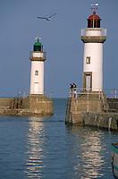 Europe/France/Bretagne/56/Morbihan/Belle-île/Le Palais: Le port et les phares