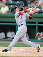 Infielder Steven Souza (13) of the Hagerstown Suns at the 2010 South Atlantic League All-Star Game on Tuesday, June 22, 2010, at Fluor Field at the West End in Greenville, S.C. Photo by: Tom Priddy/Four Seam Images