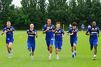 Motion blur of the QPR team in training