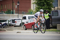 Maximilian Schachmann (DEU) crossing over to the race leaders on his own<br /> <br /> U23 Road Race<br /> UCI Road World Championships Richmond 2015 / USA