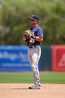 GCL Twins second baseman Dane Hutcheon (21) during a game against the GCL Orioles on August 11, 2016 at the Ed Smith Stadium in Sarasota, Florida.  GCL Twins defeated GCL Orioles 4-3.  (Mike Janes/Four Seam Images)