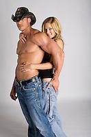 Western cowboy riding romance novel cover stock photographs by Jenn LeBlanc and Studio Smexy