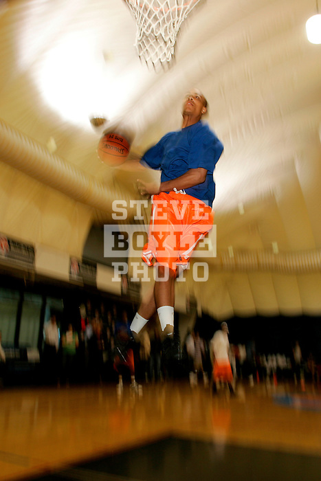 Jerryd Bayless practices at Basketball City in New York City on August 31, 2006.  The high school players were in town for the Elite 24 Hoops Classic, which brought together the top 24 high school basketball players in the country regardless of class or sneaker affiliation.