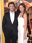 Laura Haddock and Sam Claflin at The  Los Angeles Premiere of The Hunger Games: Mockingjay - Part 1 held at  Nokia Theatre L.A. Live in Los Angeles, California on November 17,2014                                                                               © 2014 Hollywood Press Agency