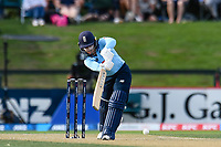 23rd February 2021, Christchurch, New Zealand;  Tammy Beaumont of England at bat during the 1st ODI Cricket match, New Zealand versus England, Hagley Oval, Christchurch, New Zealand