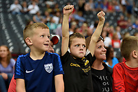 Cincinnati, OH - Tuesday September 19, 2017: USA supporters during an International friendly match between the women's National teams of the United States (USA) and New Zealand (NZL) at Nippert Stadium.