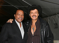 Billy Dee Williams (Night Shift) poses with Randy Jones (Village People)  at the Gala Awards Ceremony of the 2008 Hoboken International Film Festival which concluded  with Billy Dee Williams being presented the Lifetime Achievement Award and then nominees and winners were announced on June 5, 2008 at Pier A Park, Hoboken, New Jersey.  (Photo by Sue Coflin/Max Photos)
