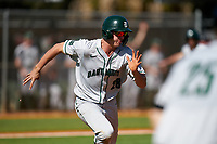 Dartmouth Big Green Kolton Freeman (28) runs to first base during a game against the Omaha Mavericks on February 23, 2020 at North Charlotte Regional Park in Port Charlotte, Florida.  Dartmouth defeated Omaha 8-1.  (Mike Janes/Four Seam Images)