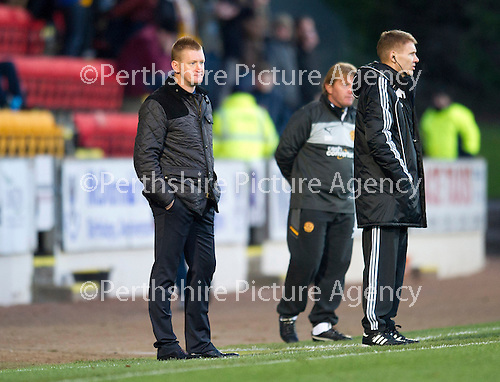 St Johnstone v Motherwell...03.11.12      SPL.Steve Lomas.Picture by Graeme Hart..Copyright Perthshire Picture Agency.Tel: 01738 623350  Mobile: 07990 594431