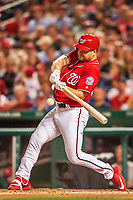 29 July 2017: Washington Nationals outfielder Adam Lind in action against the Colorado Rockies at Nationals Park in Washington, DC. The Rockies defeated the Nationals 4-2 in the first game of their 3-game weekend series. Mandatory Credit: Ed Wolfstein Photo *** RAW (NEF) Image File Available ***