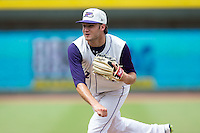 Winston-Salem Dash starting pitcher Spencer Adams (12) follows through on his delivery against the Wilmington Blue Rocks at BB&T Ballpark on June 5, 2016 in Winston-Salem, North Carolina.  The Dash defeated the Blue Rocks 4-0.  (Brian Westerholt/Four Seam Images)