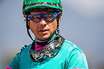 APRIL 5, 2014: Jockey, Tyler Baze at the Santa Anita Derby at Santa Anita Park in Arcadia CA. Alex Evers/ESW/CSM
