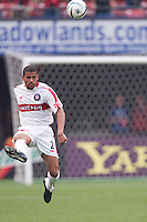 C. J. Brown of the Fire. The Chicago Fire defeated the NY/NJ MetroStars 3-2 on 6/14/03 at Giant's Stadium, NJ..