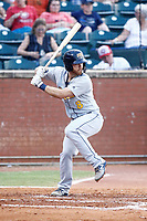 Montgomery Biscuits Mac James (8) about to swing during the game against the Chattanooga Lookouts on May 26, 2018 at AT&T Field in Chattanooga, Tennessee. (Andy Mitchell/Four Seam Images)