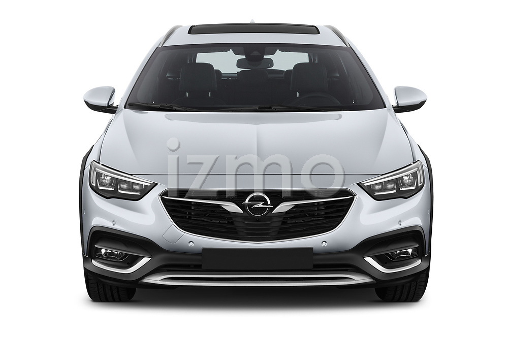 Car photography straight front view of a 2018 Opel Insignia Country Tourer Exclusive 5 Door Wagon