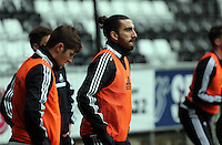 Wednesday 05 February 2014<br /> Pictured: Chico Flores<br /> Re: Swansea City FC training with Garry Monk as head coach after the departure of Michael Laudrup, at the Li Liberty Stadium, south Wales.