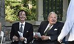 David Rockefeller and pianist Bruce Levingston.
