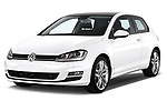 Front three quarter view of a 2013 Volkswagen Golf Highline 3 door hatchback2013 Volkswagen Golf Highline 3 door hatchback