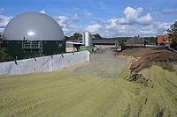 Germany, Biogas plant / DEUTSCHLAND, Damnatz im Wendland, Hof und Biogasanlage von Horst Seide, PlanET Biogasspeicher und Maissilage