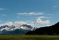 Chugach Mountains along Turnagain Arm, Alaska.