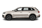 Car Driver side profile view of a 2020 Audi Q7 Advanced 5 Door SUV Side View