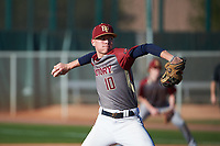 Thomas Schoneman (10) of La Cueva High School in Albuquerque, New Mexico during the Baseball Factory All-America Pre-Season Tournament, powered by Under Armour, on January 14, 2018 at Sloan Park Complex in Mesa, Arizona.  (Art Foxall/Four Seam Images)