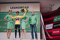 Richie Porte (AUS/BMC) takes over the yellow jersey  of teammate stefan Küng & thus is the new GC leader<br /> <br /> Stage 5: Gstaad > Leukerbad (155km)<br /> 82nd Tour de Suisse 2018 (2.UWT)
