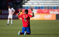 CARSON, CA - FEBRUARY 1: Keysher Fuller #4 of the Costa Rica passes off the ball during a game between Costa Rica and USMNT at Dignity Health Sports Park on February 1, 2020 in Carson, California.