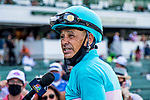 JULY 18, 2020 : Authentic with Mike Smith aboard, wins the Grade 1 Haskell Stakes, for 3 year olds, going 1 1/8 mile, at Monmouth Park, Elmont, NY.  Sue Kawczynski/Eclipse Sportswire/CSM