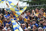 Clare fans during their Munster championship game in Ennis. Photograph by John Kelly.