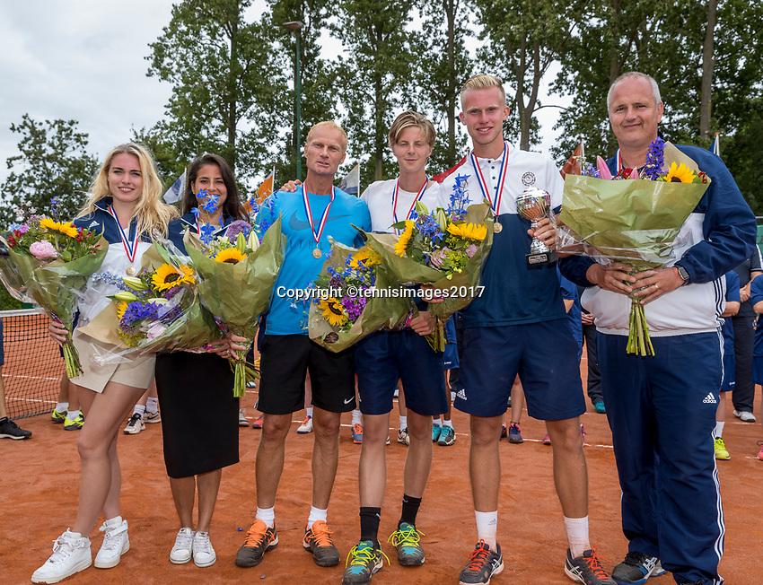 The Hague, Netherlands, 11 June, 2017, Tennis, Play-Offs Competition, Team Salland.<br /> Photo: Henk Koster/tennisimages.com