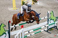 NZL-Olivia Dalton rides Yalambi's Garabaldi. Class 23: Fiber Fresh Horse 1.40m Ranking Class. 2021 NZL-Easter Jumping Festival presented by McIntosh Global Equestrian and Equestrian Entries. NEC Taupo. Saturday 3 April. Copyright Photo: Libby Law Photography
