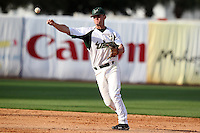 """University of South Florida Sam Mende #8 during a game vs. the Miami Hurricanes in the """"Florida Four"""" at George M. Steinbrenner Field in Tampa, Florida;  March 1, 2011.  USF defeated Miami 4-2.  Photo By Mike Janes/Four Seam Images"""