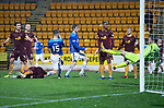 St Johnstone v Motherwell…15.12.18…   McDiarmid Park    SPFL<br />Jason Kerr pulls a goal back for saints<br />Picture by Graeme Hart. <br />Copyright Perthshire Picture Agency<br />Tel: 01738 623350  Mobile: 07990 594431