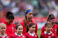 CARSON, CA - FEBRUARY 9: Lynn Williams #13, Jessica McDonald #14 and Rose Lavelle #16 of the United States during a game between Canada and USWNT at Dignity Health Sports Park on February 9, 2020 in Carson, California.
