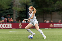 NEWTON, MA - AUGUST 29: Andi Barth #21 of Boston College dribbles during a game between University of Connecticut and Boston College at Newton Campus Soccer Field on August 29, 2021 in Newton, Massachusetts.