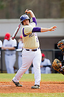 Tyler White (20) of the Western Carolina Catamounts gets ready to step into the batters box against the Davidson Wildcats at Wilson Field on March 10, 2013 in Davidson, North Carolina.  The Catamounts defeated the Wildcats 5-2.  (Brian Westerholt/Four Seam Images)