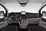Stock photo of straight dashboard view of a 2018 Ford Tourneo Custom Sport 5 Door Passenger Van