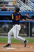 September 7 2008:  Kyle Morgan of the State College Spikes, Class-A affiliate of the Pittsburgh Pirates, during a game at Dwyer Stadium in Batavia, NY.  Photo by:  Mike Janes/Four Seam Images