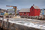 Motif #1, a red fishing shack in Rockport, Cape Ann, MA, USA