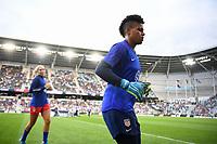 Saint Paul, MN - SEPTEMBER 03: Adrianna Franch #21 of the United States during their 2019 Victory Tour match versus Portugal at Allianz Field, on September 03, 2019 in Saint Paul, Minnesota.