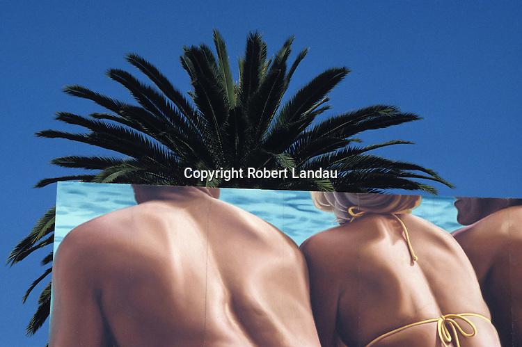 Sun Bathers billboard, Hollywood, 1984