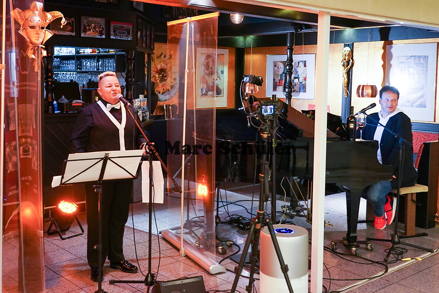 Woody Feldmann mit Musiker Ralf Baitinger - Moerfelden-Walldorf 27.02.2021: Pianoabend mit Ralf Baitinger & Friends
