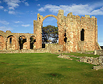 Lindisfarne Priory, Holy Island, Northumberland UK. Celtic Britain published by Orion