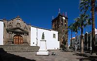 Spanien, Kanarische Inseln, La Palma,  San Salvador an der Plaza España, Denkmal Diaz