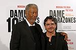 Morgan Freeman & Brad Silberling - DAME 10 RAZONES Photocall in Barcelona.
