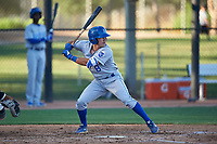 AZL Royals Jimmy Govern (8) at bat during an Arizona League game against the AZL White Sox at Camelback Ranch on June 19, 2019 in Glendale, Arizona. AZL White Sox defeated AZL Royals 4-2. (Zachary Lucy/Four Seam Images)