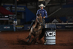 Hollie Etbauer during the second round of barrel qualifiers at the WCRA Stampede at the E. Photo by Andy Watson